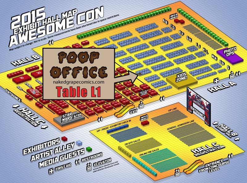 Poop Office at Awesome Con DC - Table L1