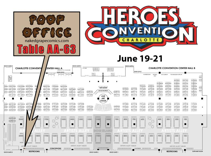 HeroesCon Map