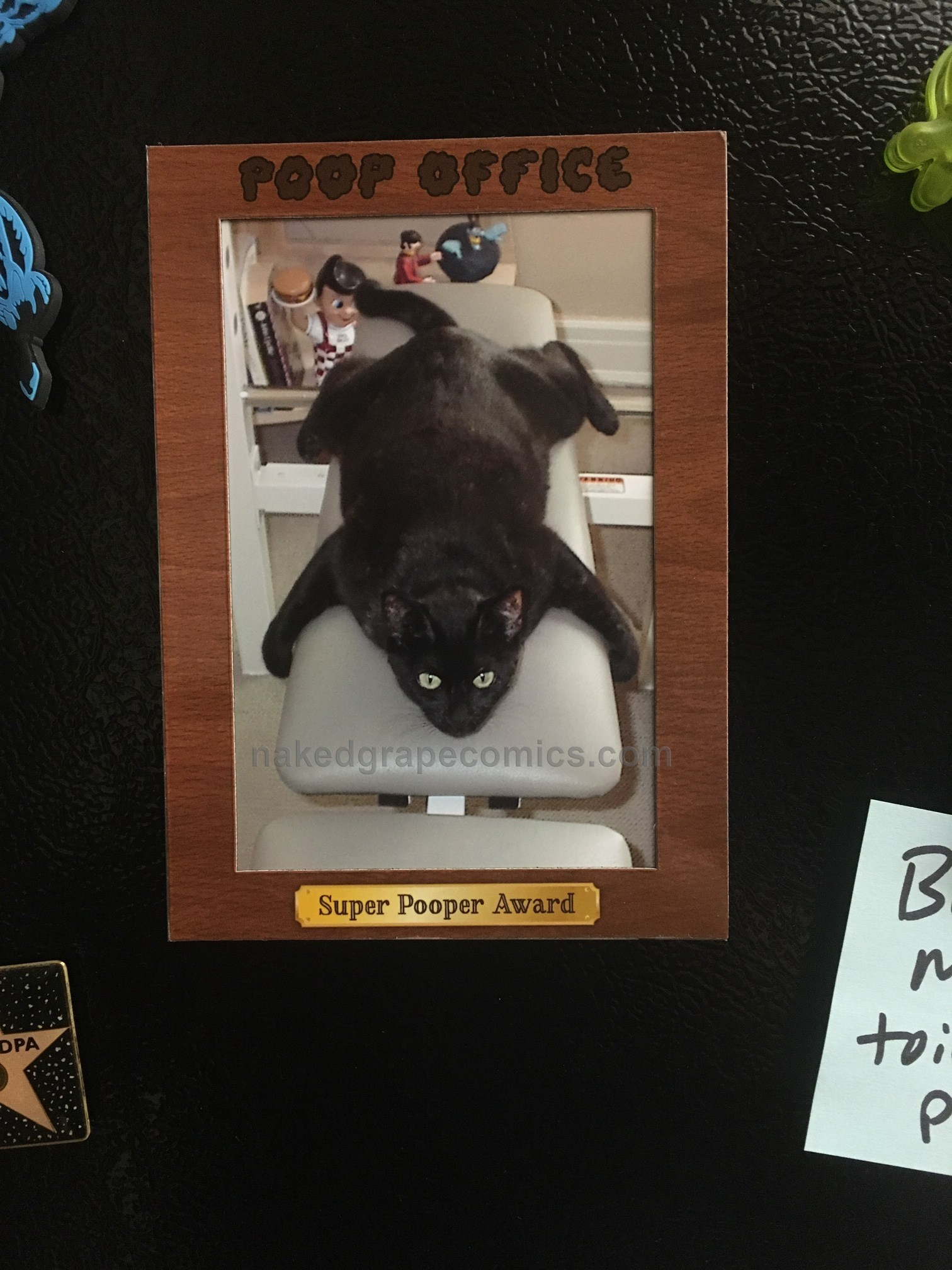 Super Pooper Award - Magnetic Photo Frame
